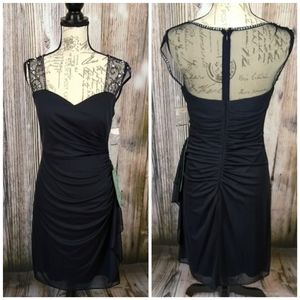 Stenay Sheer Back Lace Ruching Side Dress